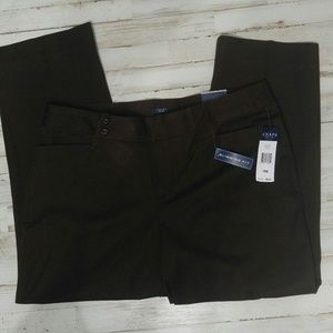 Chap's Chocolate Brown Slimming Fit Pants Size 18W